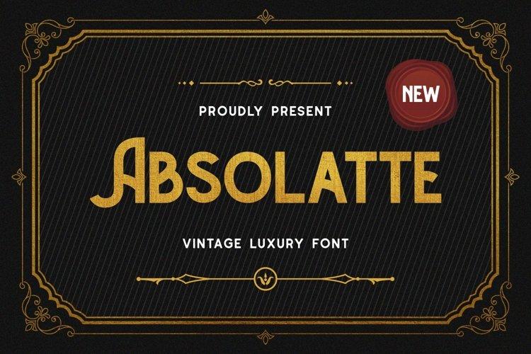 Absolatte - Vintage Luxury Font example image 1