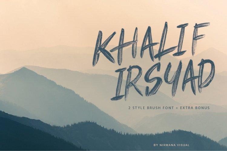 Khalif Irsyad 2 font style Plus Extra Bonus Illustration example image 1