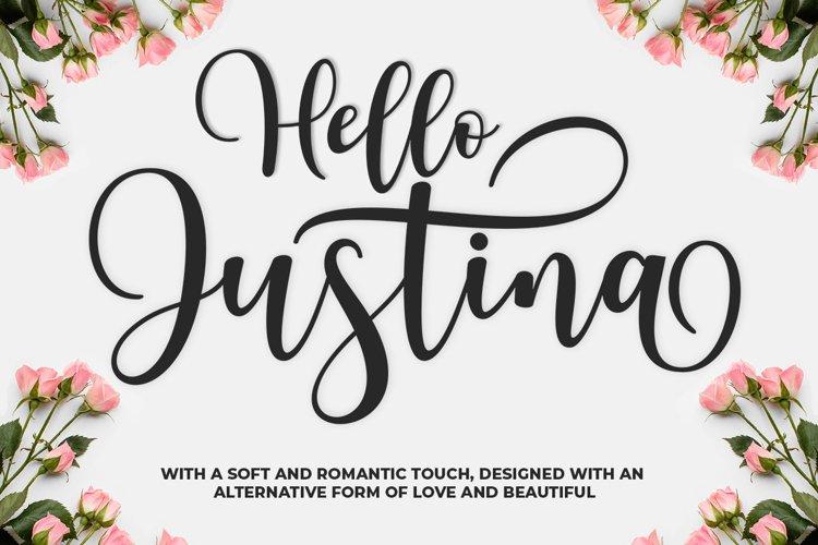 Hello Justina example image 1