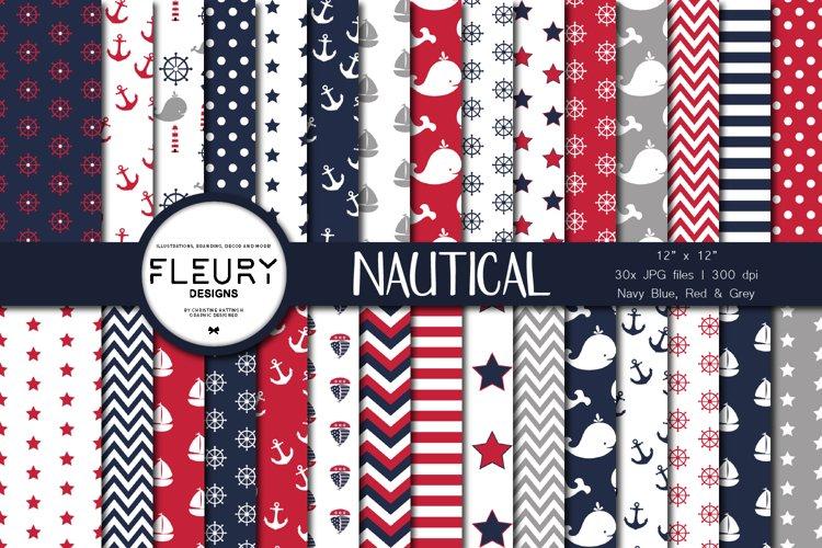 Nautical Sailor Digital Paper