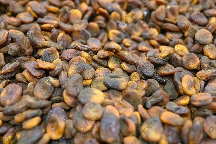 black dried apricots a pile of dry fruits as a background example image 1