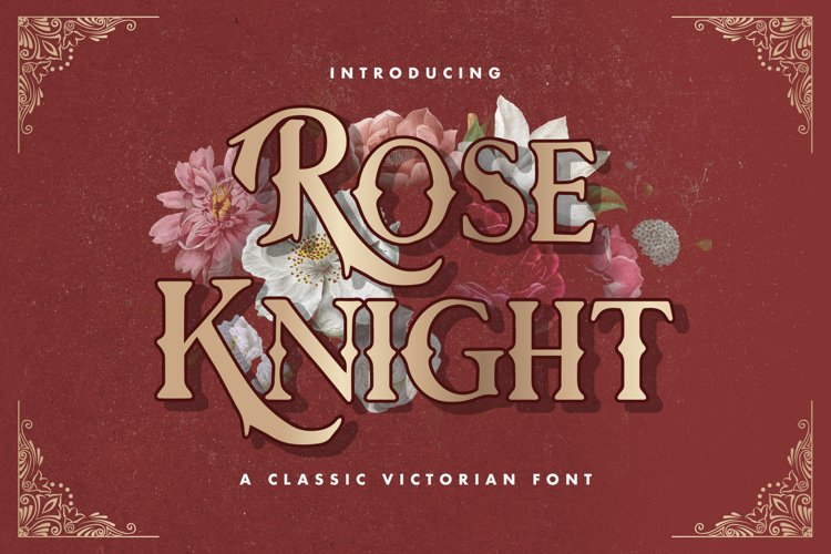 Rose Knight - Victorian Decorative Font example image 1