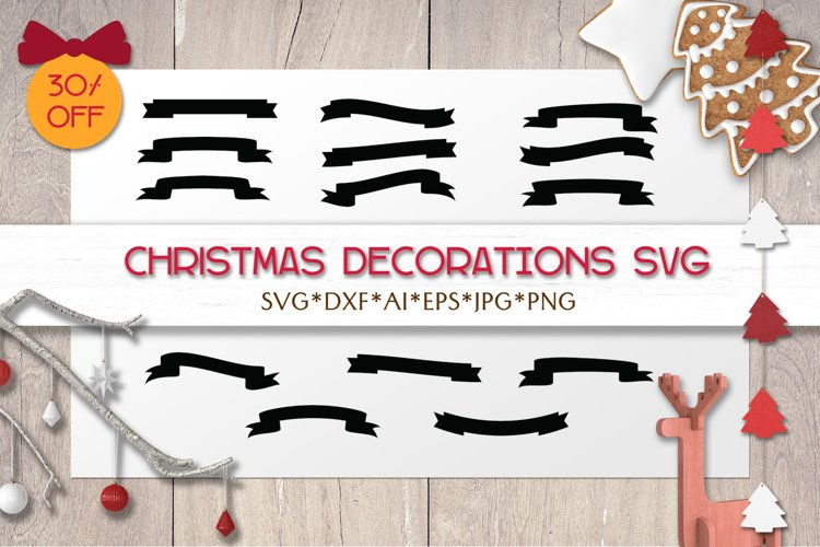 Christmas SVG Decorations | Silhouettes | Laser | Cricut example image 1