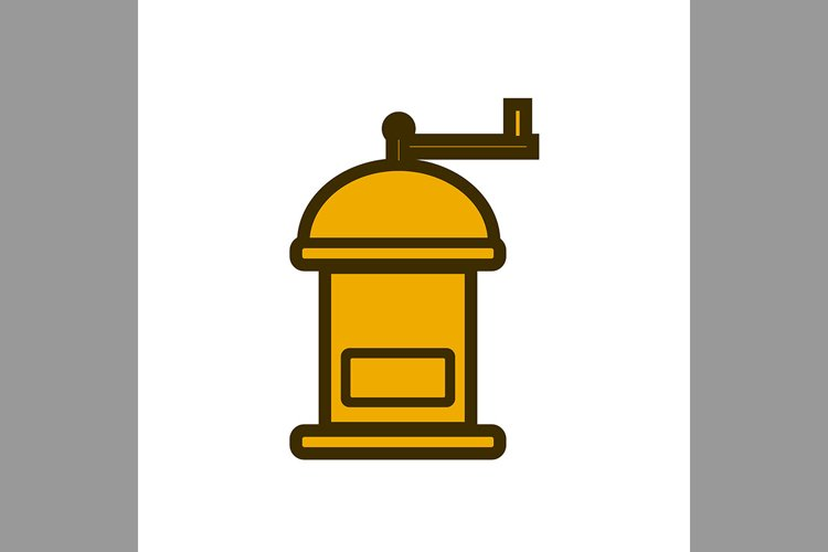 coffee grinder symbol brown color, Vector Illustrationbrown, example image 1