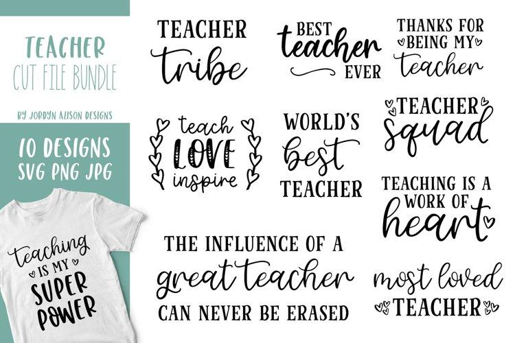 10 Teacher SVG Bundle, Back To School Bundle