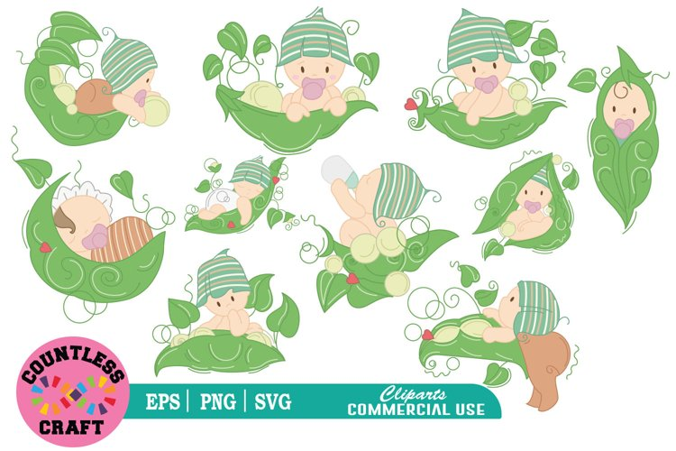 My cute little plant babies clipart, Babies Clipart example image 1