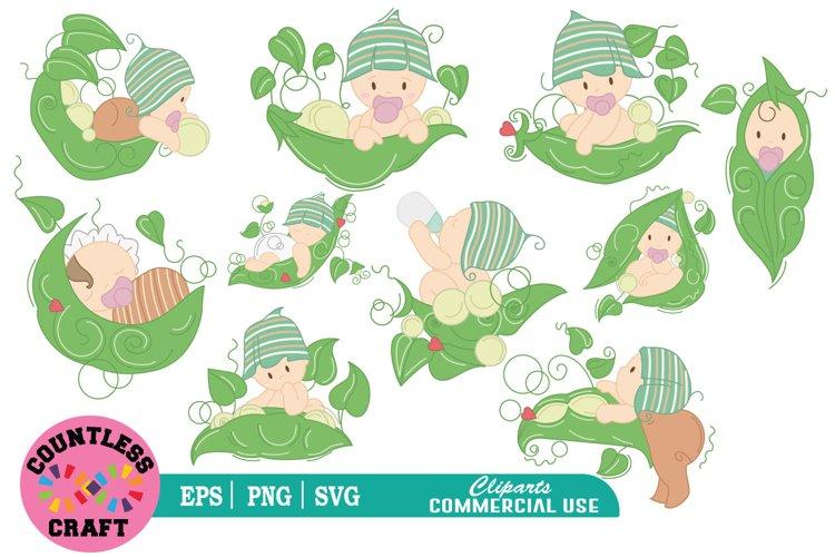 My cute little plant babies clipart, Babies Clipart