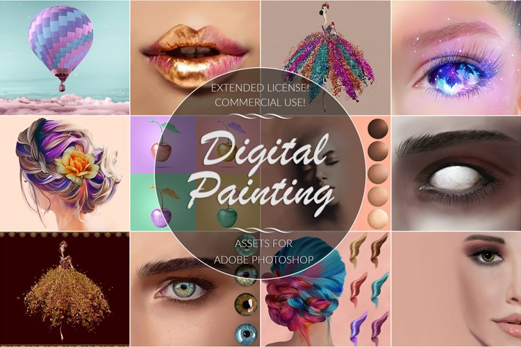 Digital Painting Bundle for Photoshop