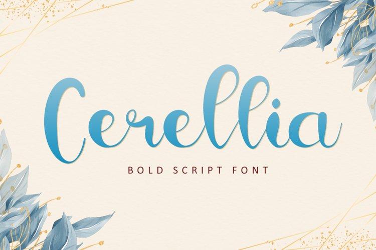Cerellia - Bold Script Font example image 1