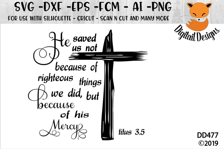 Easter Resurrection Titus 3.5 SVG Cut File example image 1
