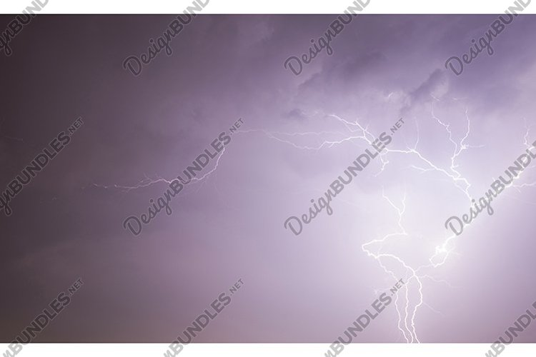 lightning discharge during thunderstorms example image 1