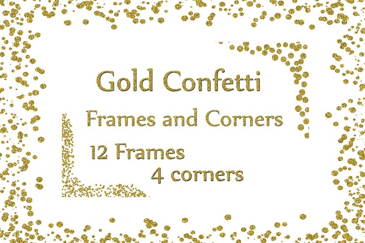 Gold Confetti Frames example image 1
