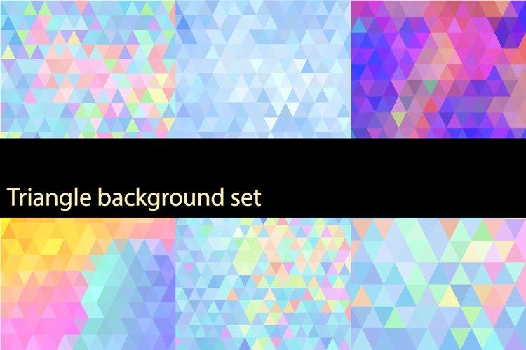 Triangle background set example image 1