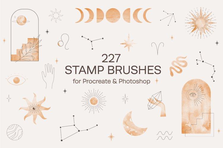 Celestial Stamp Brushes Procreate, Photoshop example image 1