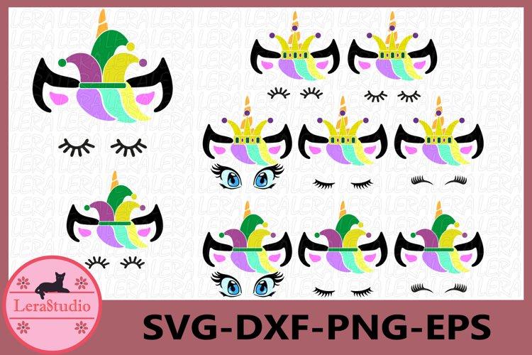 Unicorn face svg, Mardi Gras Svg, Mardi Gras Clip Art