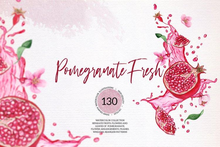Pomegranate Fresh Watercolor Set example image 1
