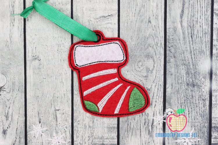 Hanging Christmas Stockings ITH Ornament example image 1