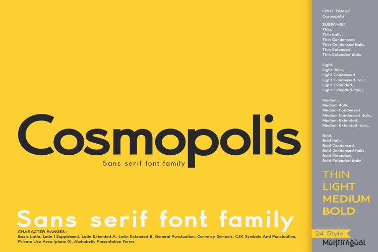 Cosmopolis - Sans serif font family example image 1