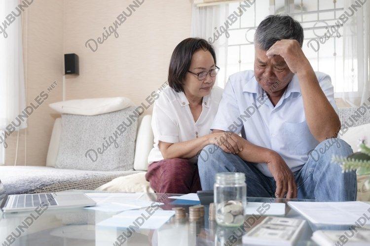 Retired elderly old family money problems. example image 1