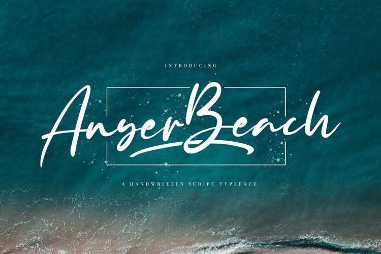Anyer Beach - Handwritten Font example image 1