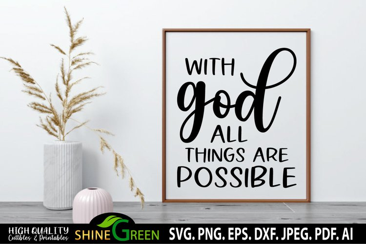 With God All Things Are Possible SVG Christian Quotes SVG