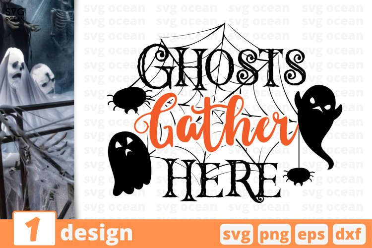 GHOSTS FATHER HERE SVG CUT FILE | Halloween cricut | Father example image 1