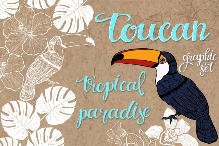 Toucan. Tropical paradise. example image 1