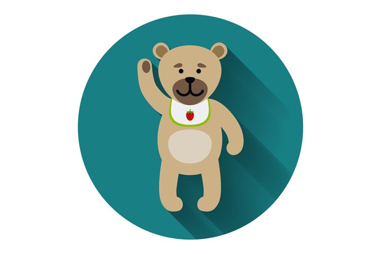 Teddy bear icon with shadow example image 1