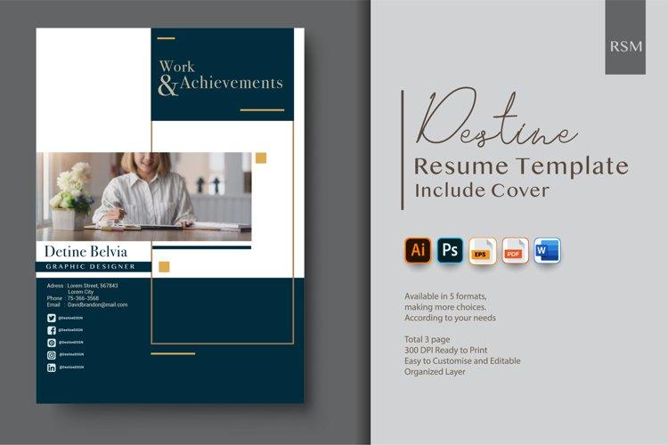 Resume Template - Graphic Designer example image 1