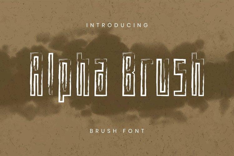 Web Font Alpha Brush Font example image 1