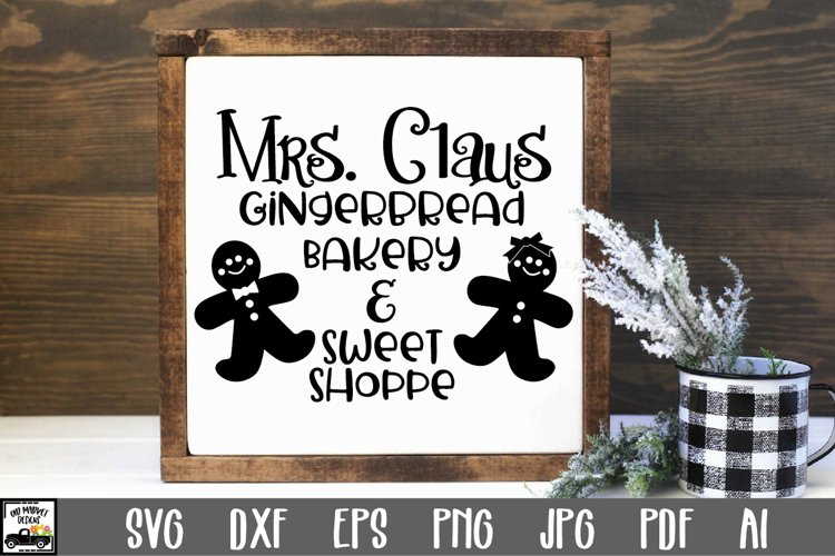 Christmas SVG Cut File - Gingerbread Bakery SVG File example image 1