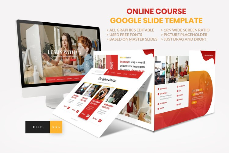 Online Course - Education Google Slide Template example image 1