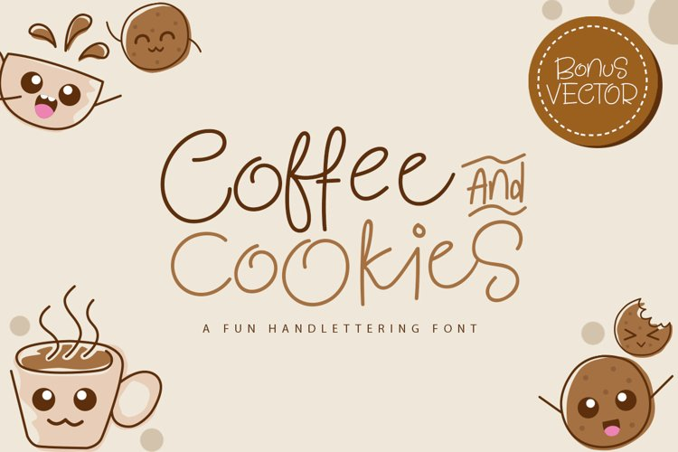 Coffee and Cookie Font example image 1