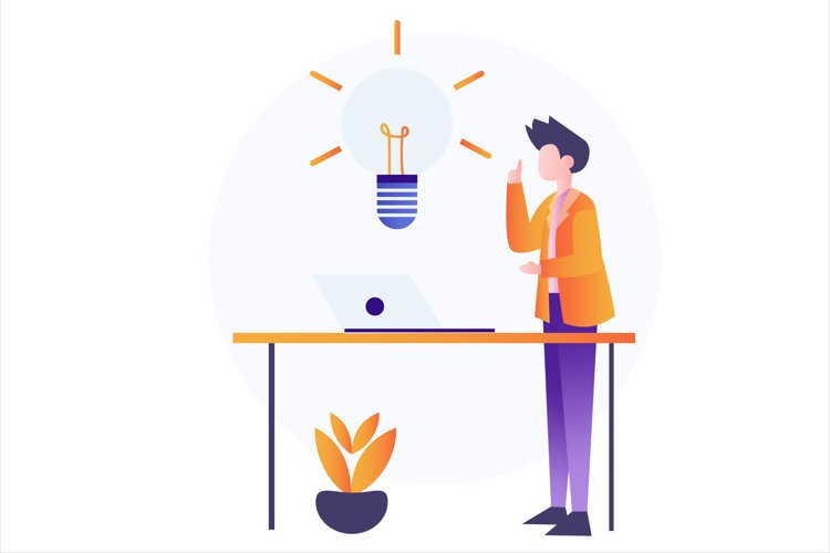 Investment Idea Flat Vector Illustration example image 1