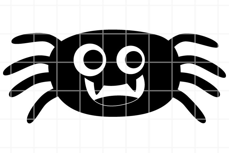 Cute Spider SVG for Halloween design. Vector illustration. example image 1
