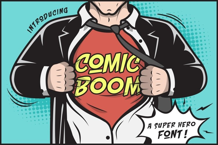 Web Font Comic Boom example image 1