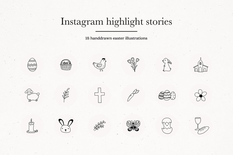 Instagram Easter Highlights Icons | Instagram Story Covers example image 1