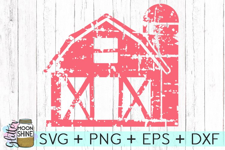 Distressed Barn SVG DXF PNG EPS Cutting Files example image 1