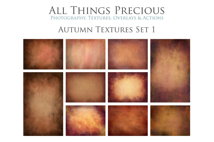 10 Fine Art AUTUMN Textures SET 1 example image 1
