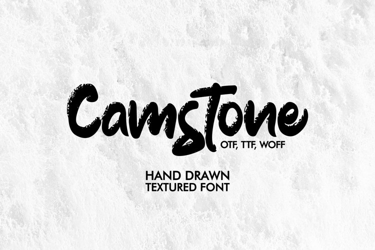 Camstone. Hand drawn textured brush Font. example image 1