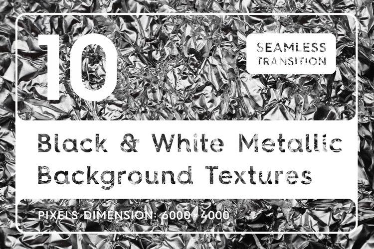 Black & White Metallic Textures example image 1