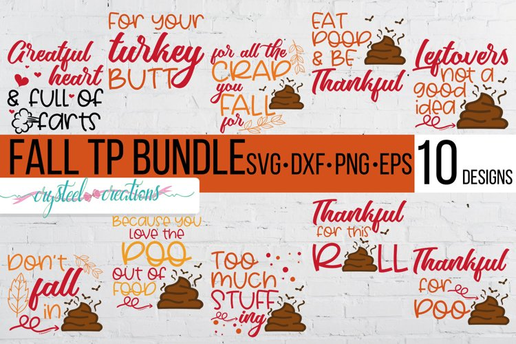 Fall Toilet Paper Bundle SVG, DXF, PNG, EPS example image 1
