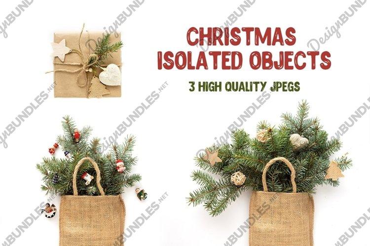 Zero waste Christmas bundle isolated on white background