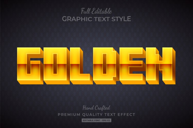 Golden Game 3d Text Style Effect Premium example image 1