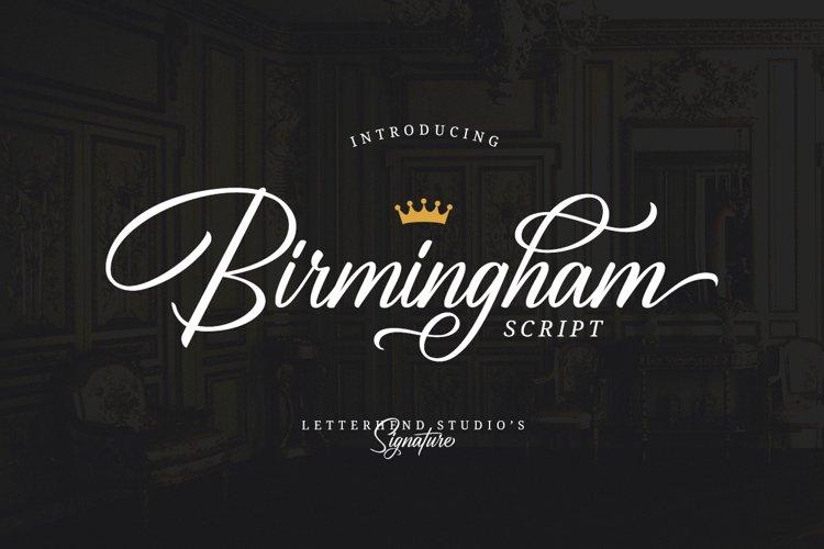 Birmingham - Signature Script example image 1