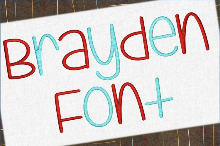Brayden Embroidery Font 1398 example image 1