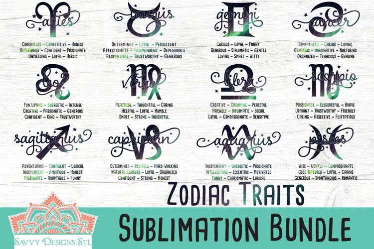 Zodiac Traits Sublimation Bundle