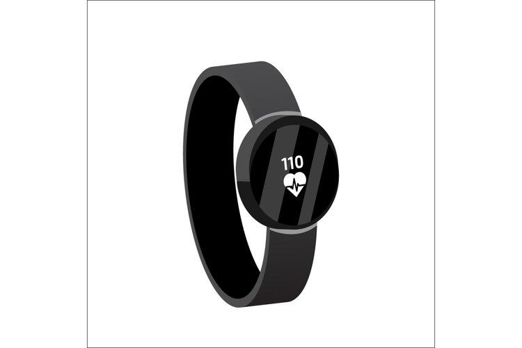 Fitness tracker, Smart Watch isometric. Vector illustration.