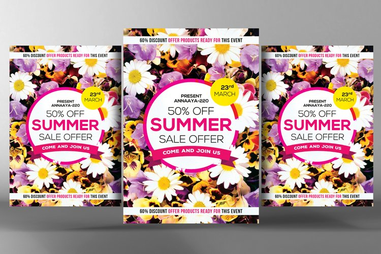 Summer Sales Flyer Template example image 1