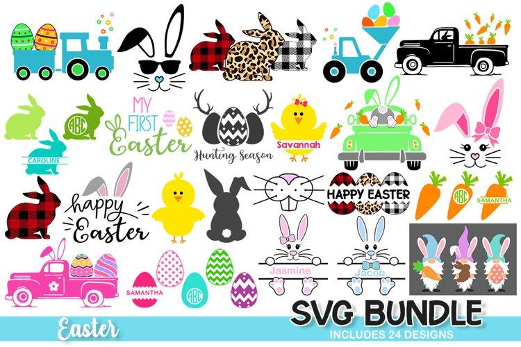 Easter SVG Bundle, Easter svg, easter bunny chicks eggs example image 1